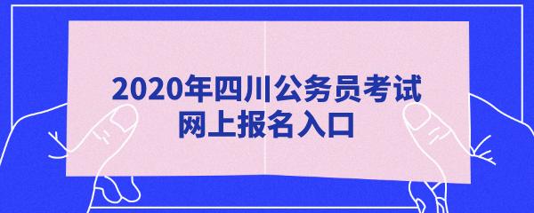 『四川省考』2020上半年四川公务员考试网上报名入口